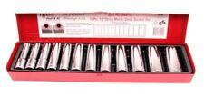 "T&E Tools 94415 12 Piece 1/2"" Drive Deep Metric Socket Set- 6 Point"