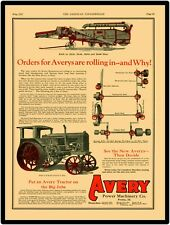 1927 Avery Power Machinery Co. Tractor & Separator  Reproduction Metal Sign
