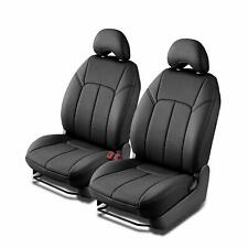Clazzio Genuine Leather Front Seat Covers Black for 12-13 Ford Focus Sedan S SE