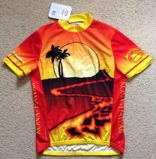 New Primal Kona Hawaii Hawaiian Pedals Lava Flow Medium Mens Cycling Jersey