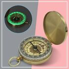 Antique Finish Brass Nautical Compass With Lid Old Vintage Pocket Style 1PC