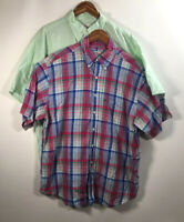 Brooks Brothers Men's Size XL Set Of 2 Button Front Shirt Size Short Sleeve