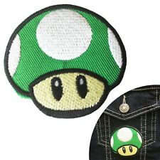Green Toadstool iron on patch cartoon mushroom embroidery heat transfer patches