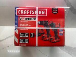 Craftsman V20 2 Tool Brushless Power Combo Kit (CMCK220D2)
