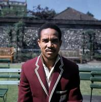 OLD LARGE CRICKET PHOTO Gary Sobers West Indies Captain 1969