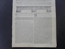 1899 Baugewerkszeitung 55 Berlin Rauchstraße / Saalburg Kastell / Wilk Eisenach