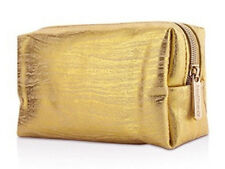 bareMinerals Small GOLD Faux Leather Make Up/Cosmetics Bag/Purse Cosmetic/Makeup