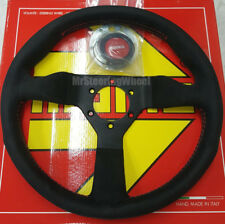 MOMO Monte Carlo Alcantara Suede 320mm Red Stitch Steering Wheel  - MCL32AL3B