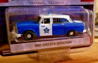 GREENLIGHT 42910 B 1961 CHECKER MARATHON CITY of CHICAGO POLICE DEPARTMENT 1//64