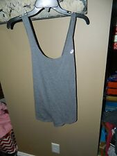 Asics Womens Sports Slub Tank Shirt Gray- WR2542 Sz S