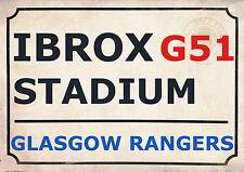 Rangers Football Club Art Print Street Sign The Gers Old Firm Design