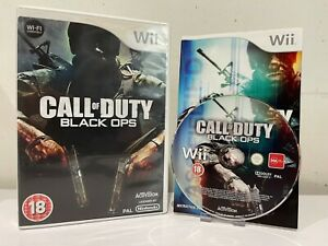 Wii & Wii U Compatible - Call of Duty: Black Ops - COD - UK Stock