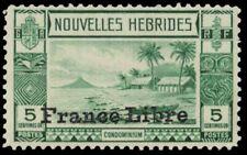 "FRENCH NEW HEBRIDES 67 (Mi121) - Beach Scene ""France Libre"" (pa31765)"
