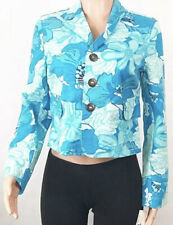 New Tommy Hilfiger Blue Floral Crop Jacket Size Small T028