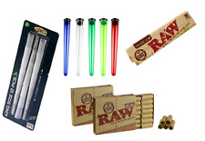 Smoking Set Pack of 12 Pre Rolled Cones Raw Rolling Paper Tips Cigarette Holder