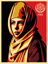 "Universal Personhood Silk Screen Print Shepard Fairey Signed 18"" x 24"" OBEY"