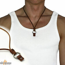 niki-orange® Nuea SURFERKETTE Halskette Leder Kette Braun