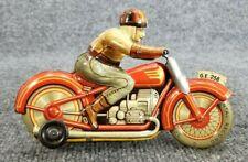 VINTAGE TIN LITHO TECHNOFIX WIND UP MOTORCYCLE US ZONE WEST GERMANY WORKS