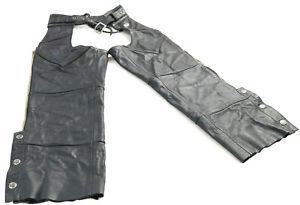 vintage kids youth boys girls harley davidson leather chaps S black Basic Skins