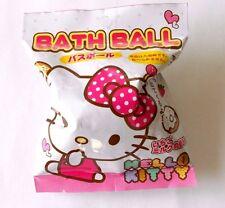 Japanese Bath bomb ball SANRIO HELLO KITTY  Inside Mascot Strawberry  Fragrance