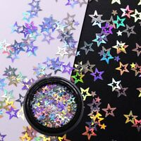 Makeup Glitter Nail Decoration Star Holographic Nail Art  Nail Art  Polish