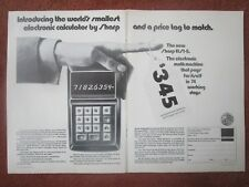 2/1971 PUB SHARP ELECTRONICS ELSI-8 SCIENTIFIC CALCULATOR CALCULATRICE AD