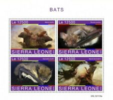 Sierra Leone - 2019 Bats on Stamps - 4 Stamp Sheet - SRL191118a