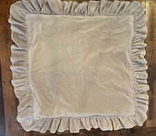 Ralph Lauren Tan Velvet Euro Shams 24 Inch Set Of 2 Pillowcase