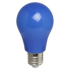 LED Leuchtmittel Birnenform A60 3W wie 25W E27 BLAU IP54 Kunststoff auch außen
