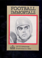 1985 Immortals OTTO GRAHAM Cleveland Browns Hall of Fame Card