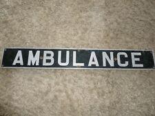More details for vintage ambulance vehicle sign