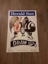2010 COLLINGWOOD DRAW FINAL PREMIERS PREMIERSHIP WEG POSTER LIMITED EDITION