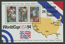 World Cup 1994 Soccer Football mnh souvenir sheet USA #2837 map