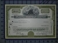 1966 The Atlantic Refining Company Stock Certificate 10 Shares