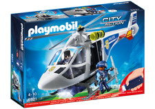 Playmobil  6921 HELICOPTERO POLICIA CON LUCES LED - POLICE HELICOPTER WITH LED