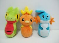 Treecko Torchic Mudkip Legit 3 Set Lot Pokemon Center 2004 Bowling Pin Plush