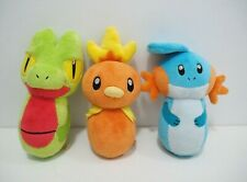 Treecko Torchic Mudkip Legit 3 Set Lot Pokemon Center 2004 Bowling Pin Plush