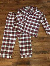 Pottery Barn Plaid Men's Medium Pajama Set Pjs Red & Green
