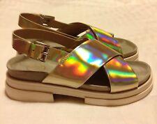 Ash Sue Sandals. Silver Metallic. Size 37 (UK 4)