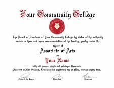 CUSTOM COMMUNITY COLLEGE DIPLOMA COLLEGE CERTIFICATE DIPLOMA UNIVERSITY DEGREE