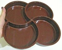 DANSK Divided Hard Plastic Serving Tray Mid Century Modern Brown Retro Melamine