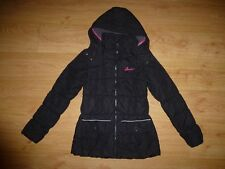 Girl's Desigual Black Full Zip Quilted Hooded Polyester Jacket Top 13-14 Years