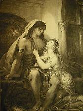 Gravure XIX e à l'antique signée Charles de  Billy au crayon Alexandre Cabanel ?