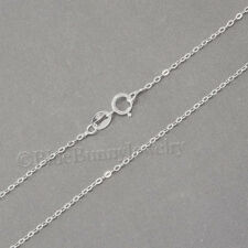 """18"""" Pretty 925 STERLING SILVER chain for Necklace pendant charm 1.3mm  0.7gr"""
