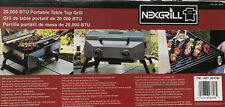 New Nexgrill Large Portable Table Top Stainless Steel Gas Grill 20,000 BTU BBQ