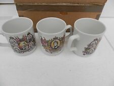 vintage set of three mugs the queens silver jubilee 1952-1977 new boxed england