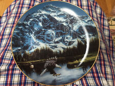 Porcelian plate/ Portrait of Majesty/ by John Van Straalen Plate/ The Danbury Mi