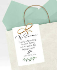 Welcome Bag Tags, Personalized Wedding Guest Favor Tags for Destination Wedding
