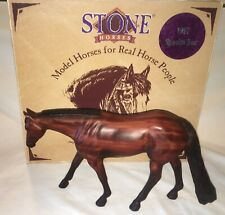 Peter Stone Horse 1997 Special Run Quarter Horse Autographed box and horse