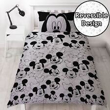 OFFICIAL DISNEY MICKEY MOUSE SILHOUTTE SINGLE DUVET COVER SET REVERSIBLE BEDDING